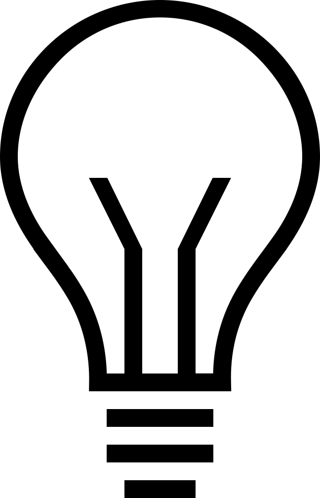 Lightbulb svg. Ios outline png icon