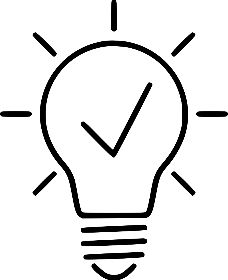Bulb drawing creative. Idea light innovation svg