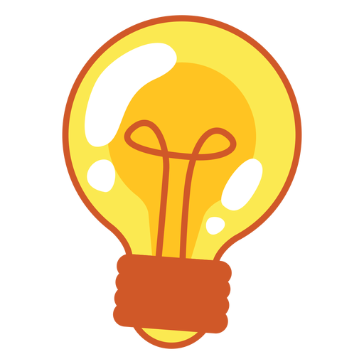 Light bulb vector png. Cartoon transparent svg