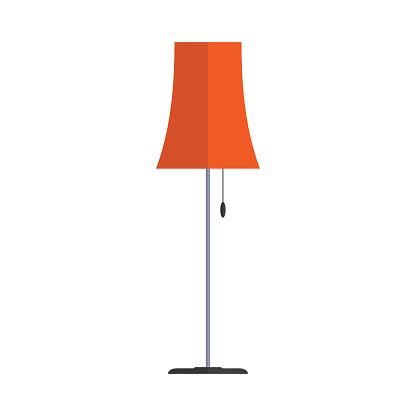 Light clipart floor. Lamp pencil and in