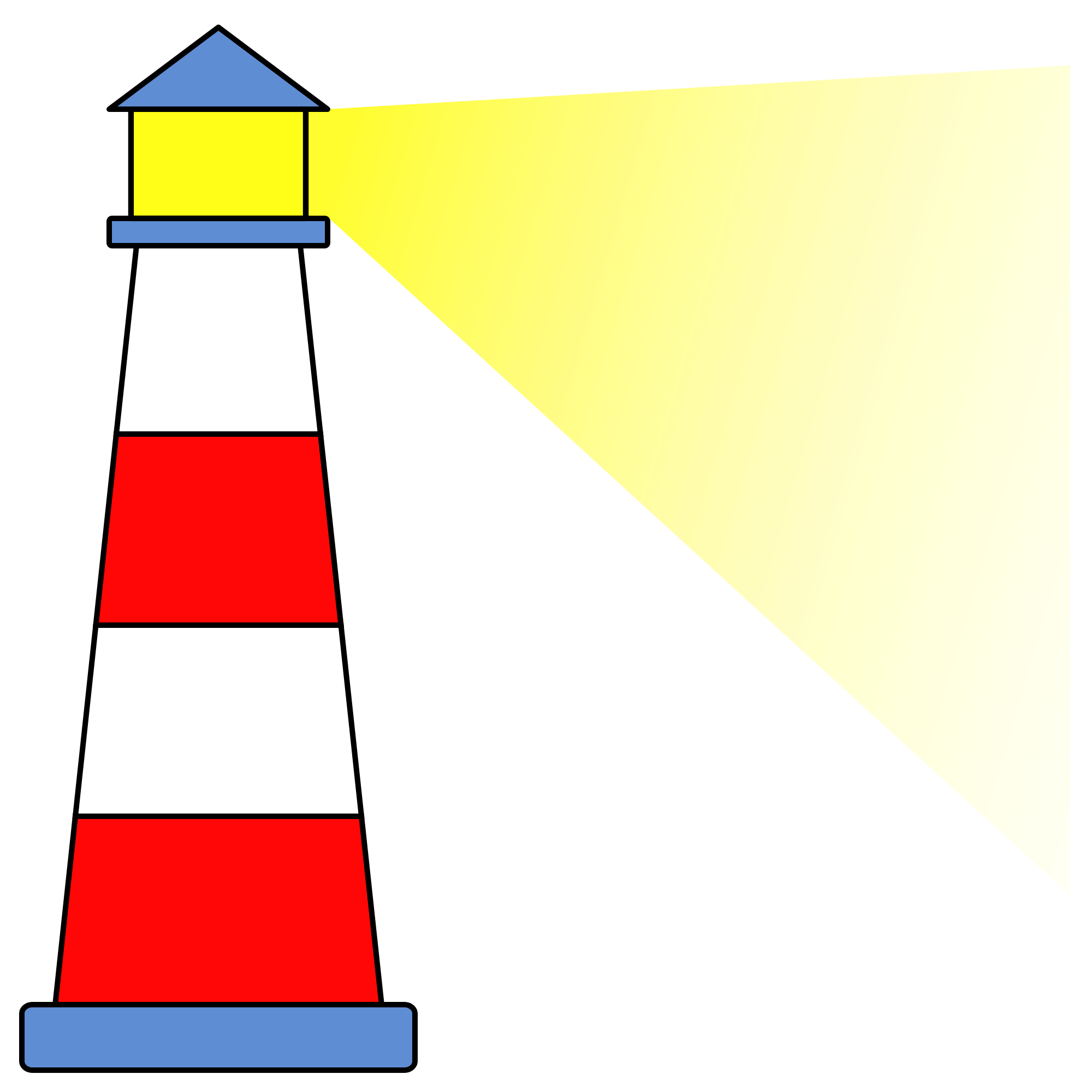 Transparent lighthouse icon