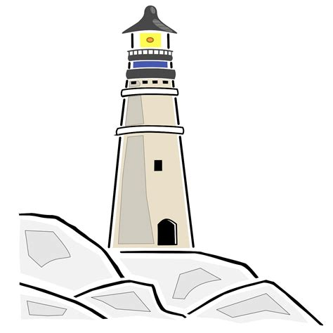 Light clipart house. Lighthouse vector clip art