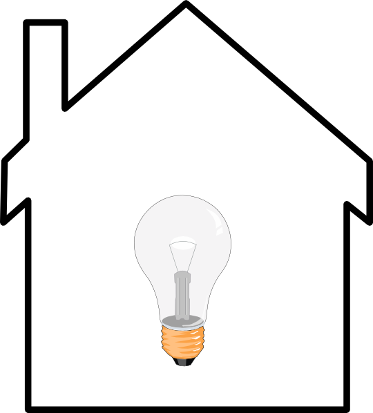 Light clipart house. Bulb clip art at