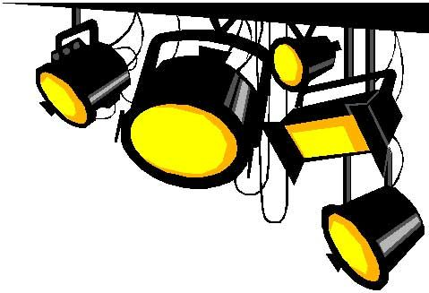 Stage lights clip art. Lighting clipart png black and white stock
