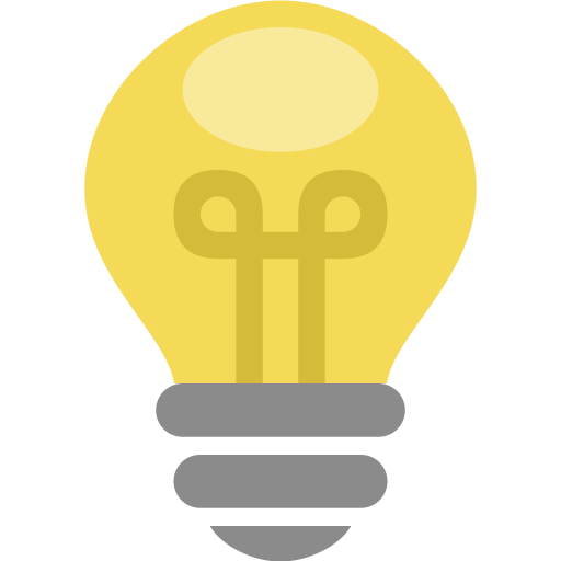 Light bulb idea png. Things by artem white
