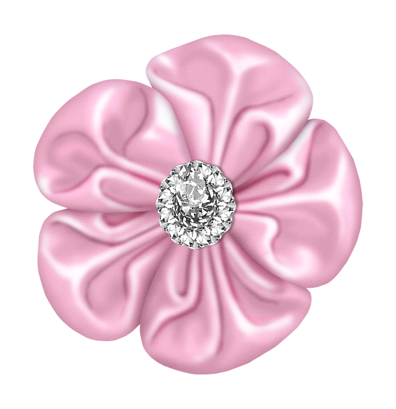 Light pink flowers png. Flower bow with diamond