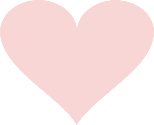 Light pink heart png. Red clip art at