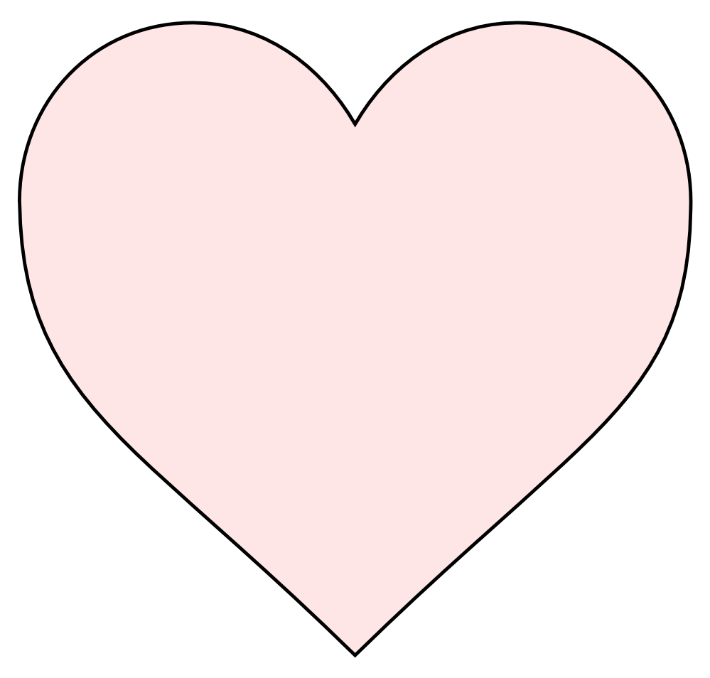Light pink heart png. Black coloring book colouring