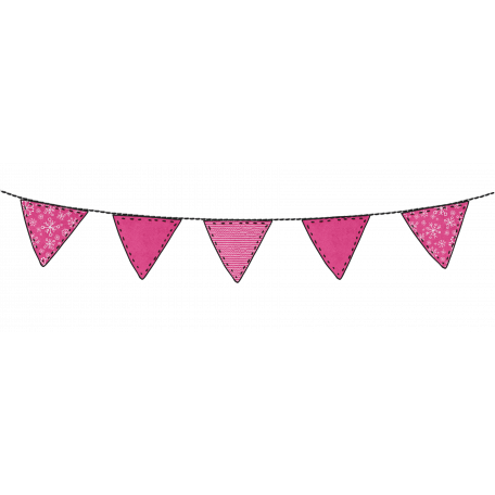 Light pink stripes png. Winter stitched flag bunting