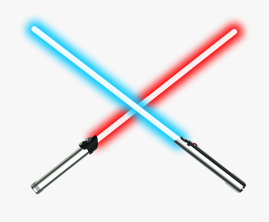 Light saber. Clipart red and blue