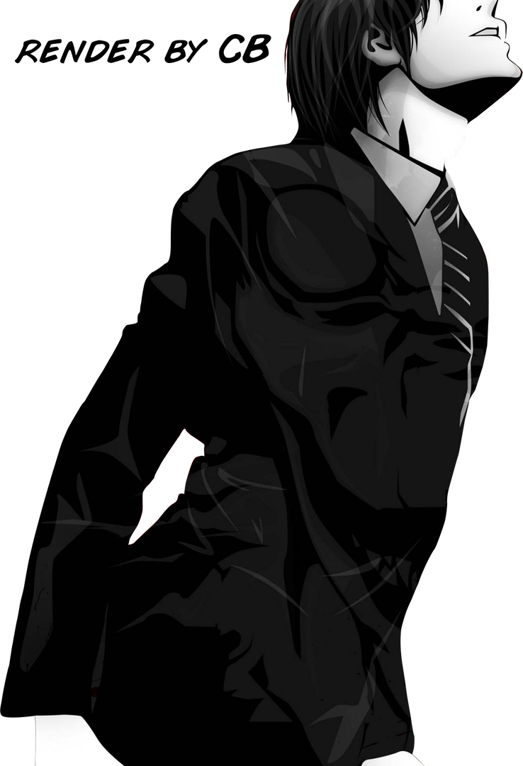 Light yagami png. Render by asaf cb