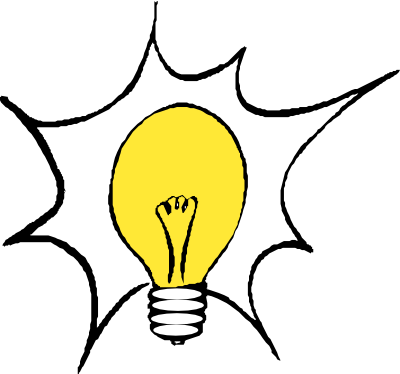 Bulb drawing mind. Problem brain challenged based