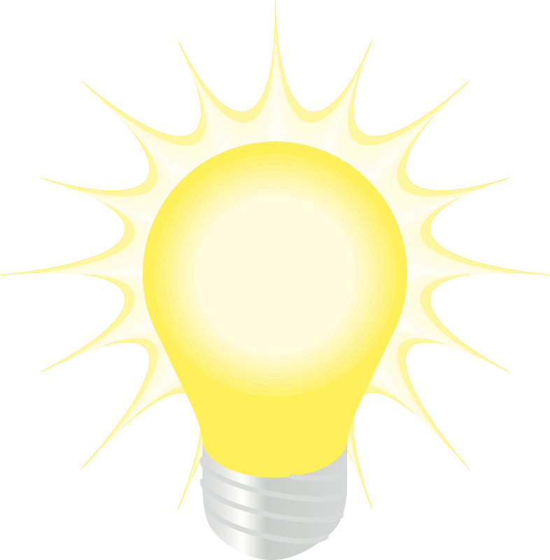 Glow vector bright light. Free bulb image download
