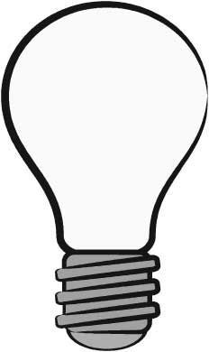 Lightbulb clipart printable. Coloring page things pages