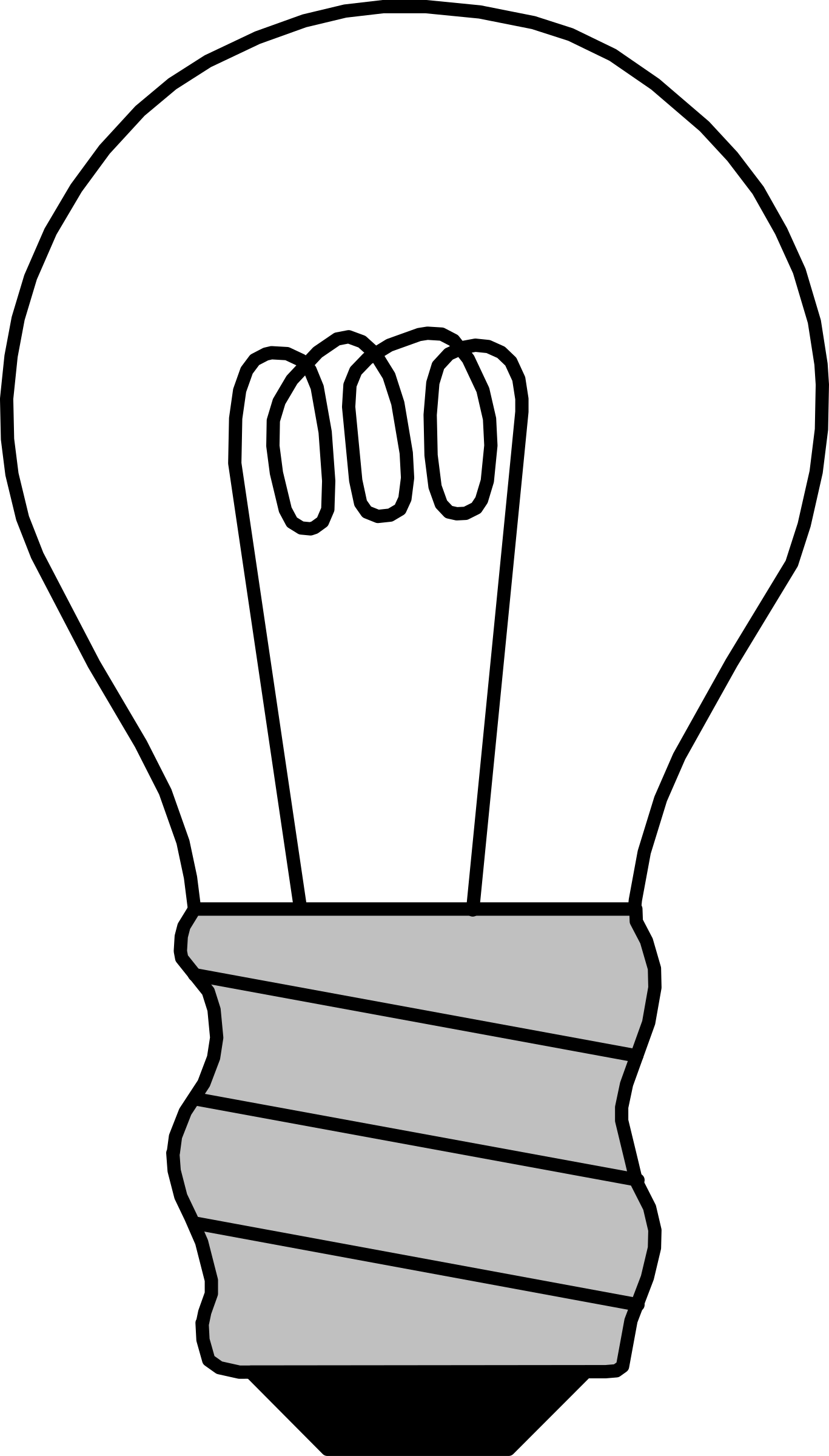 Lightbulb clipart printable. Light bulb objects coloring