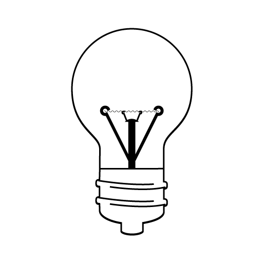 Bulb drawing buld. Step choose which type