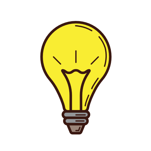 Lightbulb idea png. Light bulb illuminated icon