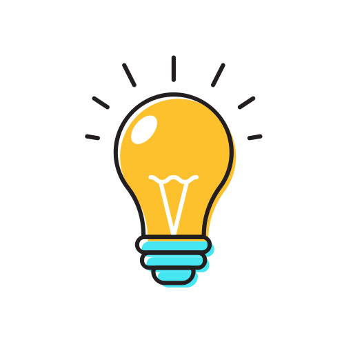 Icons for free bulb. Lightbulb idea png image stock