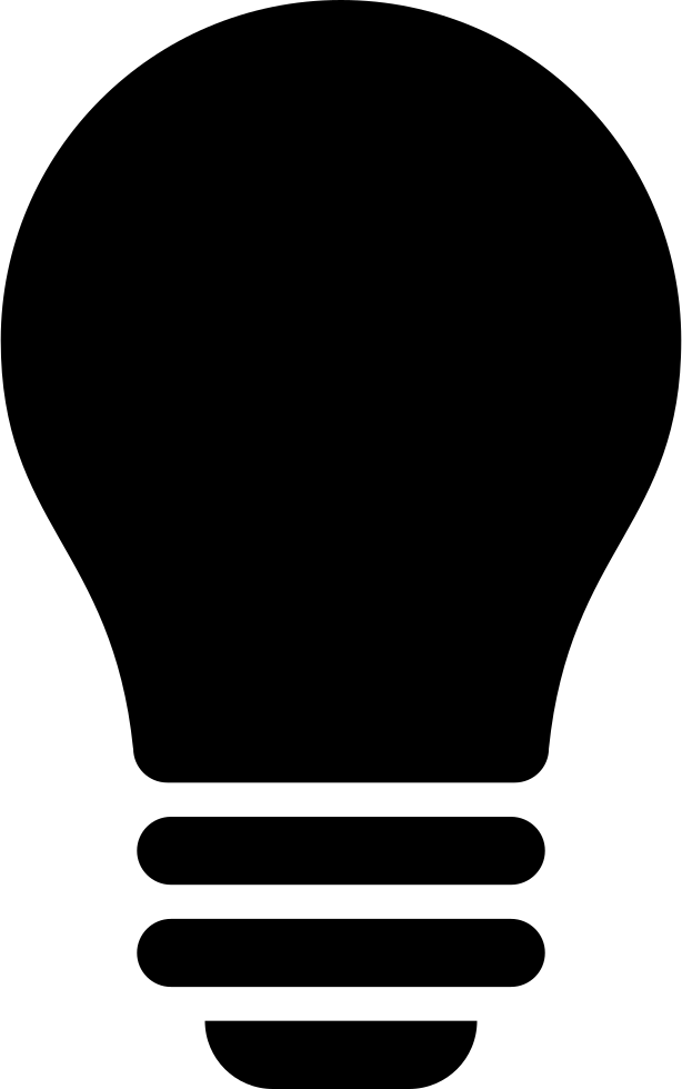 Lightbulb svg. Black light bulb png