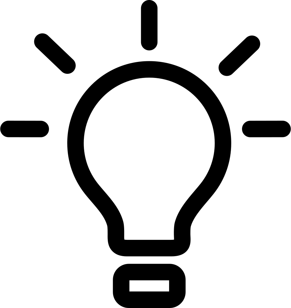 Lightbulb svg. Png icon free download