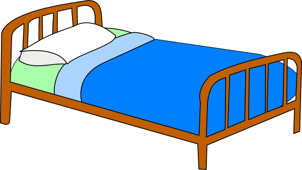 Colored bed clip art. Bedroom clipart image transparent download