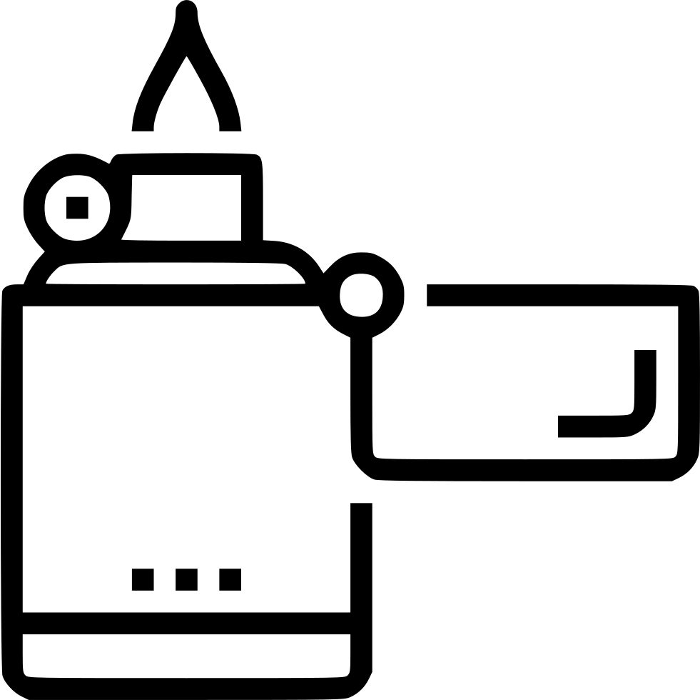 Lighter clip modern. Zippo svg png icon