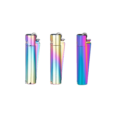 Lighter transparent clipper. Icy micro vision of