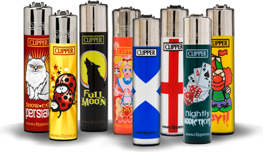 Lighter transparent clipper. Lighters all about eco