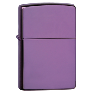 Lighter transparent purple. Authentic zippo multi color
