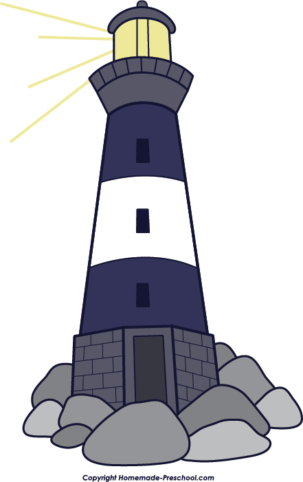 Drawing lighthouse sea. Moroccan red clip art