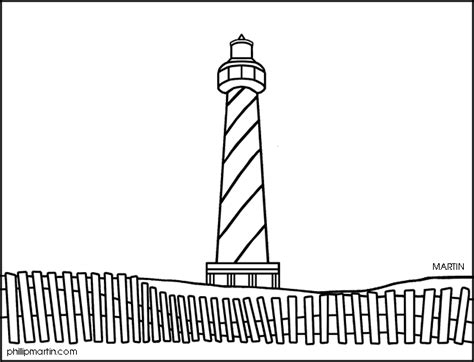 Lighthouse clipart lighthouse hatteras. Coloring page eskayalitim cape