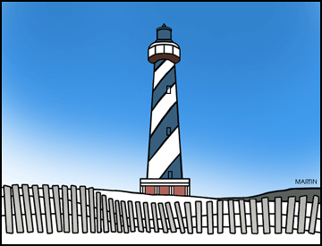 Lighthouse clipart lighthouse hatteras. Free north carolina clip