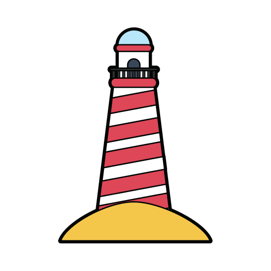 Lighthouse clipart striped. Icon image icons by