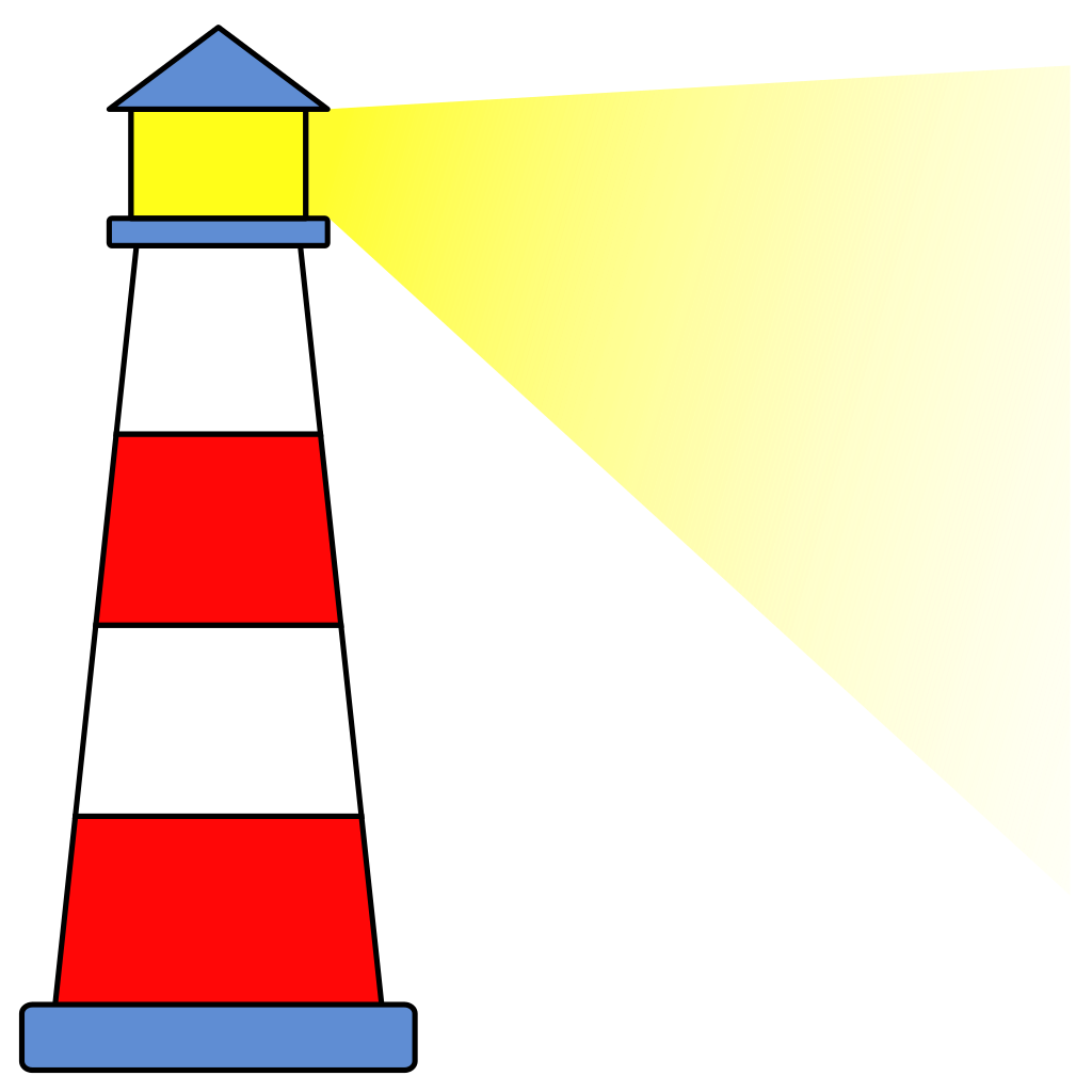 Lighthouse clipart striped. Image gallery clip art