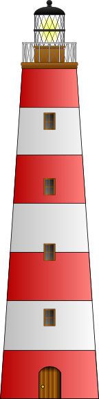 Lighthouse clipart striped. Red and white clip