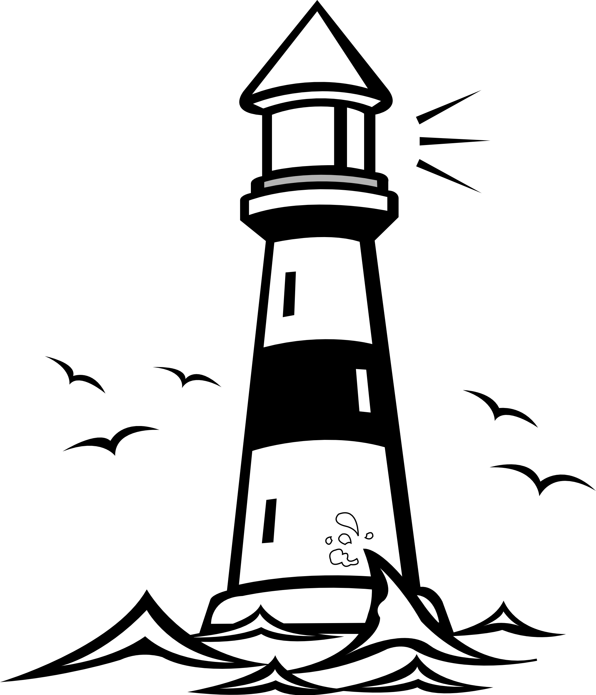 Drawing lighthouse minimalist