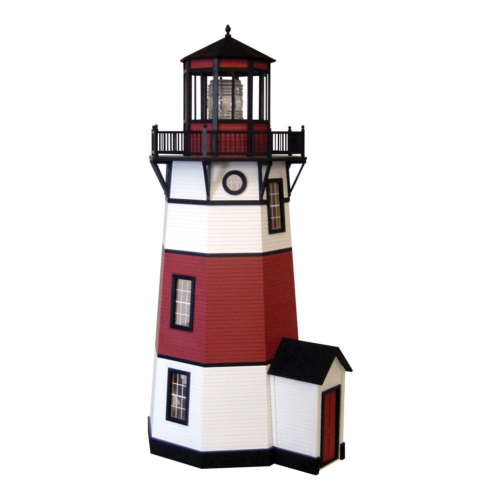 Drawing lighthouse barn. New england kit real