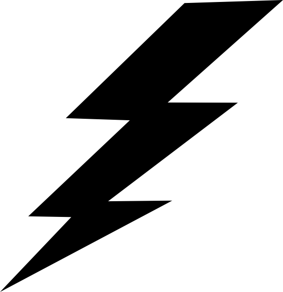 Lighting bolts png. Black lightning bolt clip