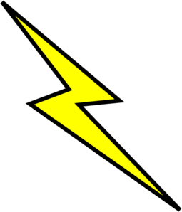 Lightning bolt clip art. Lighting clipart svg library download