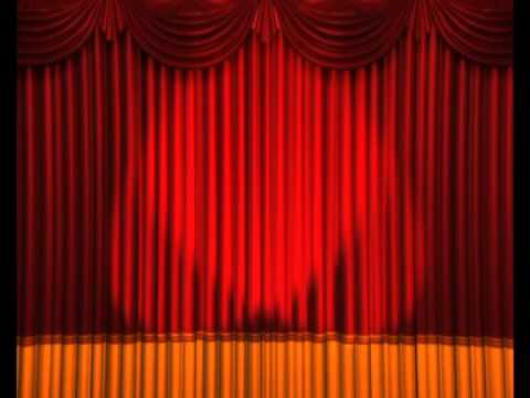 Curtain clipart curtain raiser. Opening curtains lights flashing