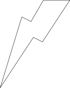 Lightning bolt clipart outline. Lightening clip art at
