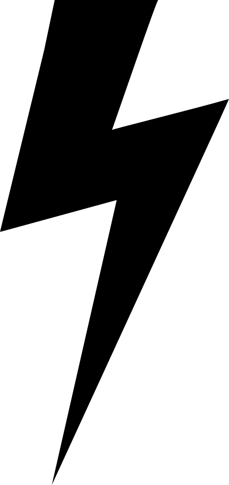 And svg shape. Lightning bolt black png