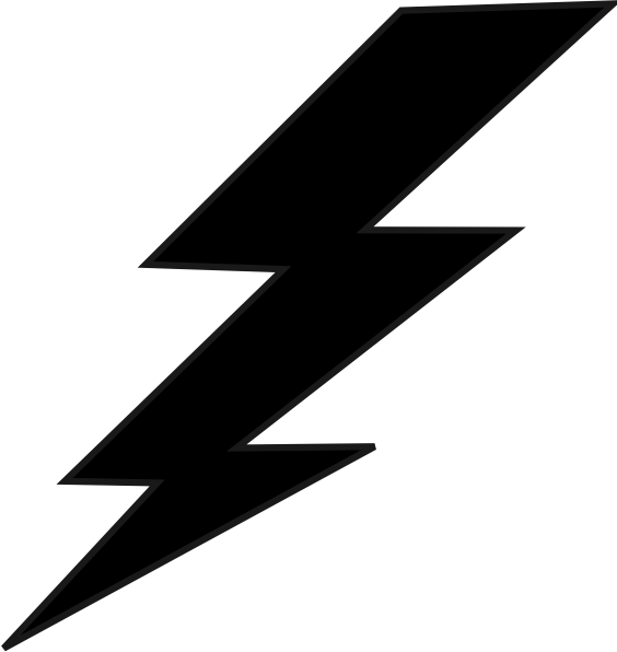 Lightning bolt logo png. Balck clip art at