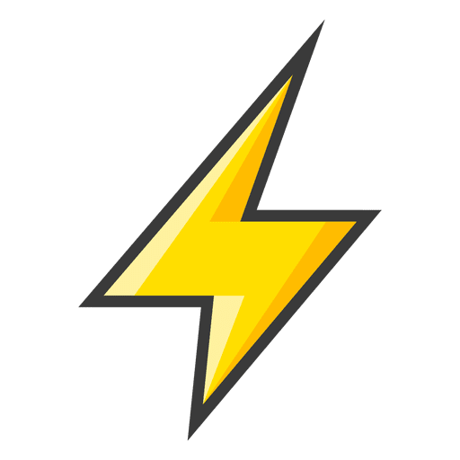 Lightning bolt png transparent background. Yellow icon svg vector