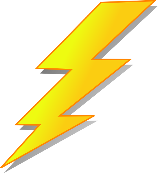 lightning bolt png orange