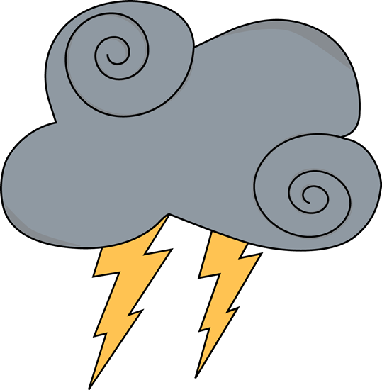 Thunderbolt clipart thunderstorm. Angry cloud with thunder