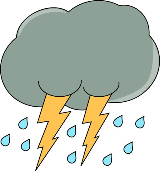 Thunderstorm clipart bad weather. Thunder and lightning at