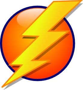 Lightning clipart bold. Vuze remote and faster
