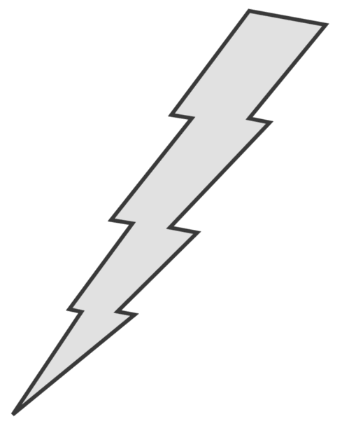 lightning bolt png white