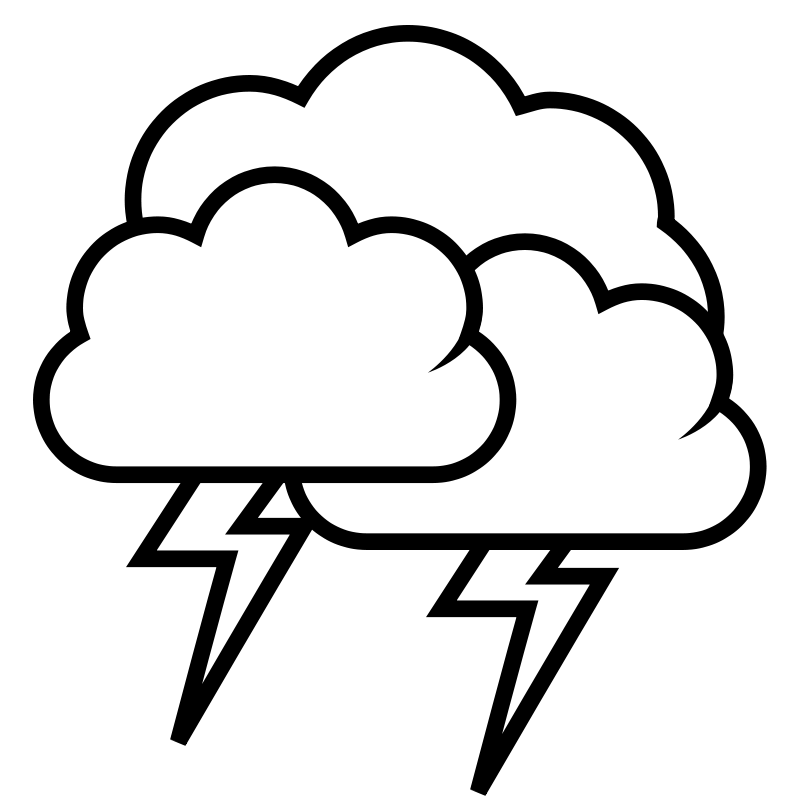 Lightning clipart bold. Severe weather free